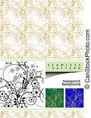 floral, vetorial, projete elemento