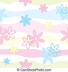 floral, vetorial, seamless, padrão