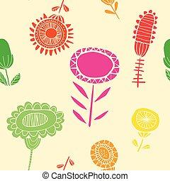 floral, vibrante, seamless, padrão