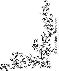 Floral vignette decorative background texture vector ...