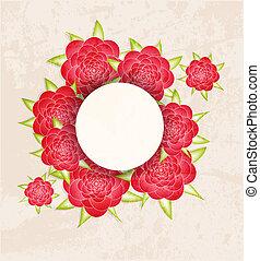floral, vindima, abstratos, convite, experiência.