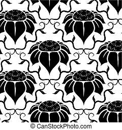 floral, vindima, padrão