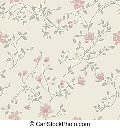 floral, vindima, seamless, padrão