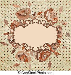 Floral vintage background. EPS 8