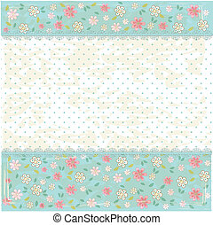 Floral shabby vintage background