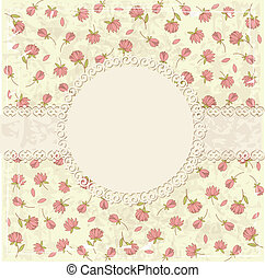 Floral vintage grunge background