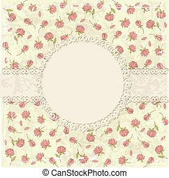 Floral vintage background