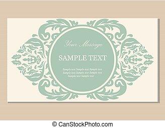 Floral vintage business card
