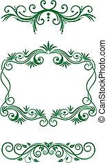 Floral vintage decorations - Vintage floral decorations and...