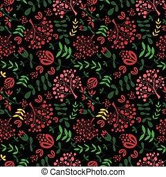 Floral vintage flower seamless pattern vector.