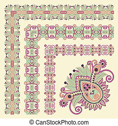 floral vintage frame design. Vector set