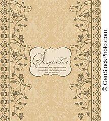 Floral vintage invitation card