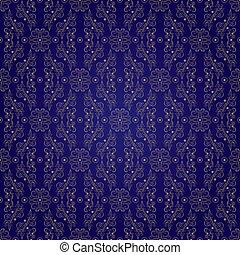Floral vintage seamless pattern on violet background