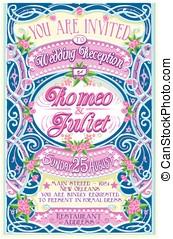 Floral Vintage Wedding Invite
