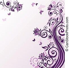 Floral violet background