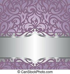 Floral Violet vector wallpaper