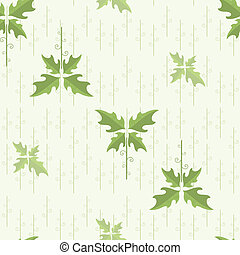 floral, wal, pattern., seamless, vector