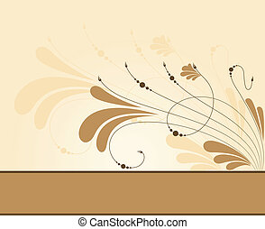 Floral wallpaper background pattern. Vector