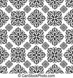 floral wallpaper black