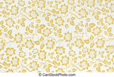 Floral wallpaper pattern light yellow abstract background