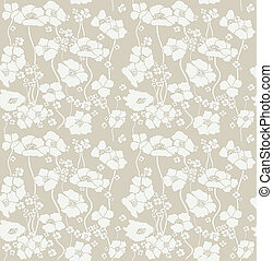 Floral wallpaper. Seamless. Vector illustration