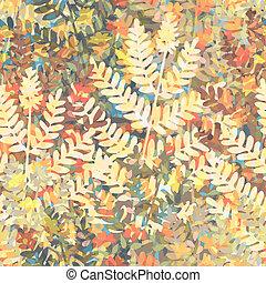 Floral wallpaper tile - Editable vector seamless tile of...