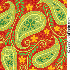 Floral Wallpaper - Vector illustration of a floral...