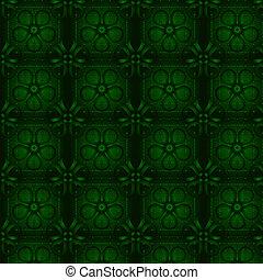 floral, wallpaper., vert, seamless