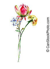 Floral watercolor illustration