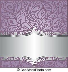 Floral wedding violet vector background design