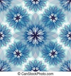 floral, white-grey-blue, répéter, modèle