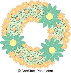 Floral wreath illustration
