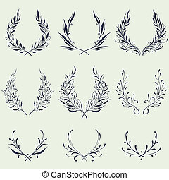 Floral Wreath Ornaments