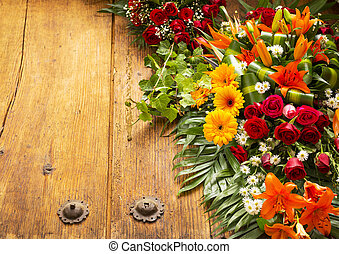Floral Wreath With Copy Space