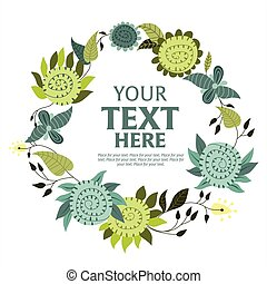 Floral wreath with space for text.