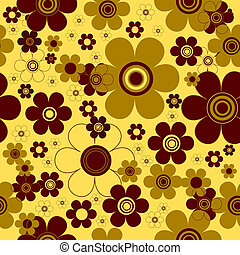 Floral yellow seamless  background (vector)