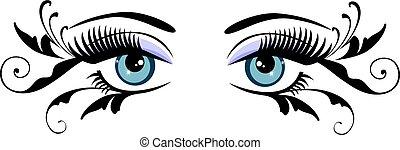 floral, yeux