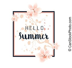 floral, zomer, achtergrond