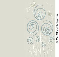 floral, zomer, ontwerp, achtergrond