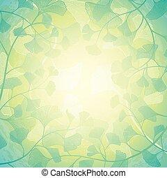 floral, zonneschijn, achtergrond