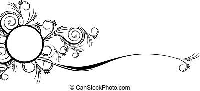 florals, 邊框, 紙卷, 裝飾品