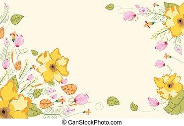 floreale, acquarello