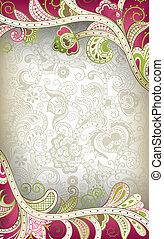 floreale, astratto, curva