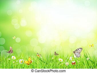 floreale, astratto, fondo
