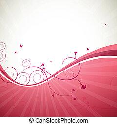 floreale, astratto, vettore, fondo, illustrazione