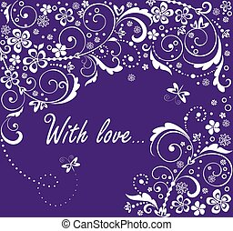 floreale, augurio, fondo, matrimonio