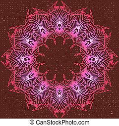 floreale, cerchio, ornamento
