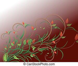 floreale, colorito, collezione