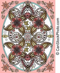 floreale, coloritura, pagina