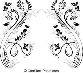 floreale, cornice, bello, disegno, tuo